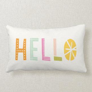 Hello Lumbar Pillow - Orange