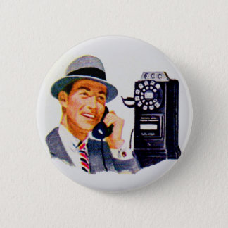 Hello, Mabel? It's Tony. 2 Inch Round Button