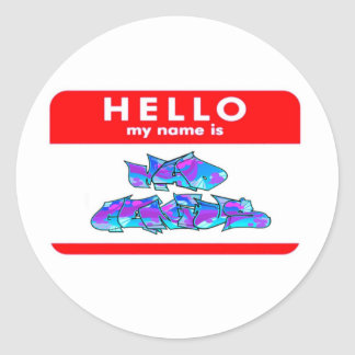 Hello Mad Genius (sticker) Round Sticker