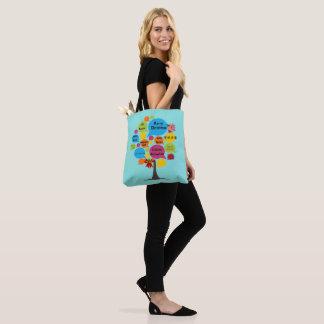 Hello & Merry Christmas Tote Bag