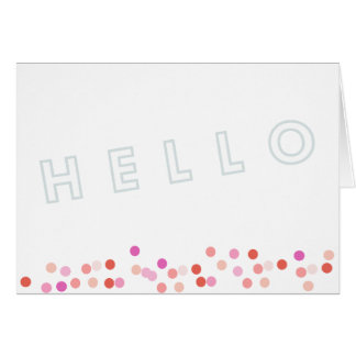 Hello Modern Dots Card