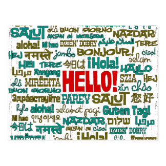 Hello (Multi Language) Postcard