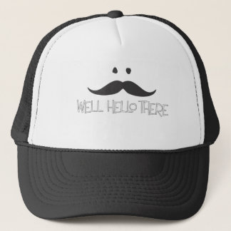 Hello Mustache Trucker Hat