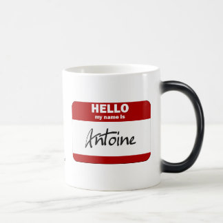 Hello My Name Is Antoine (Red) Magic Mug