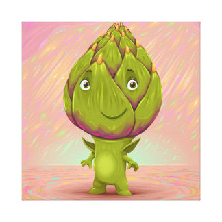 Hello My Name Is Artichoke Canvas Print