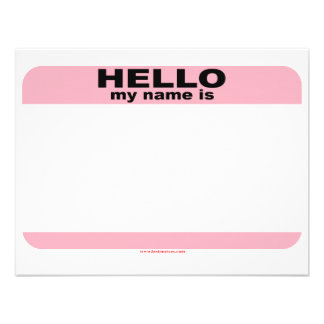Hello my name is BLANK PINK copy Personalized Announcement