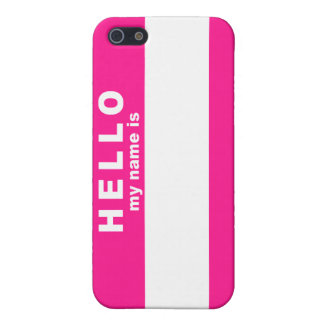 Hello My Name is Case For The iPhone 5