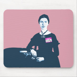 Hello My Name Is Emily Dickinson Mousepad