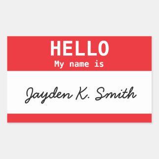 Hello, My name is Jayden K. Smith Spoof Nametag Sticker