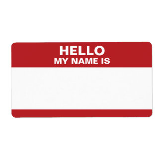 Hello My Name Is label