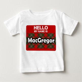 Hello My Name is MacGregor Scottish Clan Tartan Baby T-Shirt