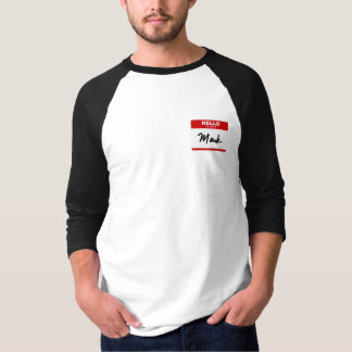 HELLO my name is Mark (red sticker) T-Shirt