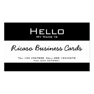 Hello My Name Is Pack Of Standard Business Cards
