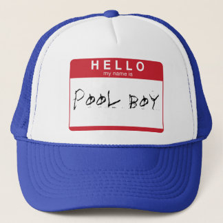 HELLO my name is Pool Boy hat
