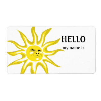 Hello my Name is Sunshine Labels