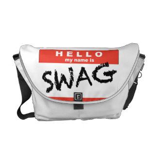 Hello My Name is SWAG Messenger Bag