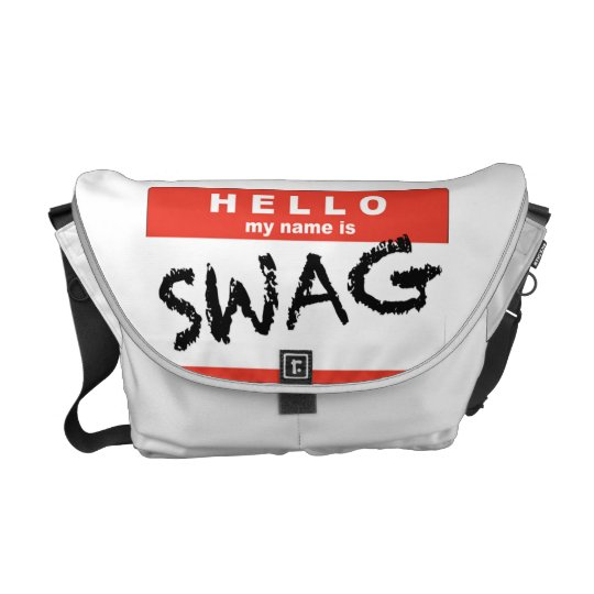 Hello My Name is SWAG Messenger Bag