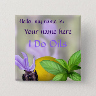 Hello, my name is: Your name here 2 Inch Square Button
