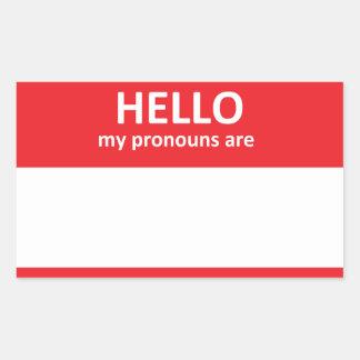 HELLO my pronouns are Sticker