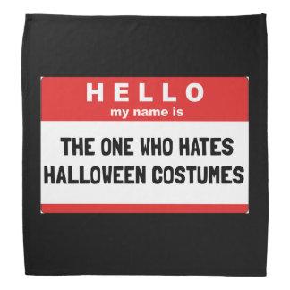 Hello Name Hate Halloween Costumes Bandana