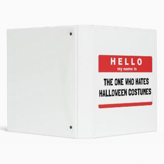 Hello Name Hate Halloween Costumes Binder