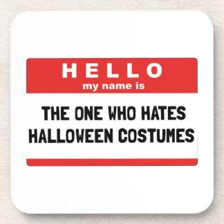 Hello Name Hate Halloween Costumes Coaster