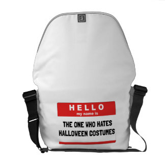 Hello Name Hate Halloween Costumes Commuter Bags