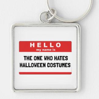 Hello Name Hate Halloween Costumes Keychain