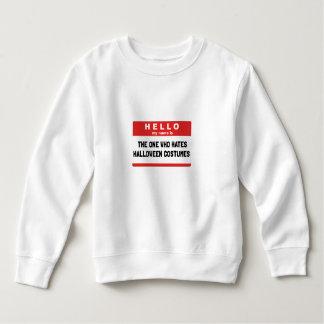 Hello Name Hate Halloween Costumes Sweatshirt