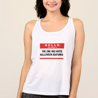 Hello Name Hate Halloween Costumes Tank Top
