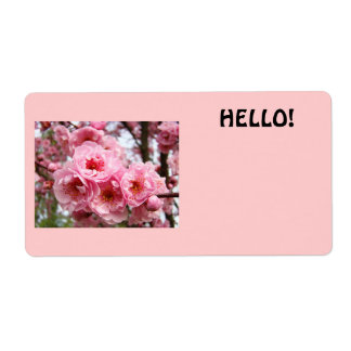 HELLO name tags custom Business Conferences Floral