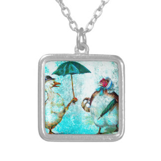 HELLO NEIGHBOR SILVER PLATED NECKLACE