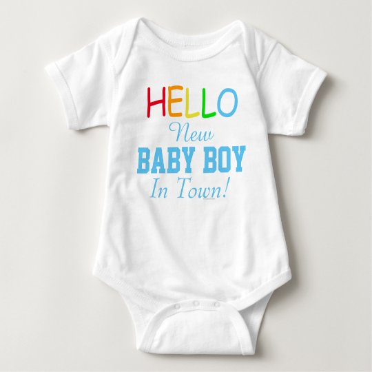 Hello New Baby Boy In Town Baby Shirt