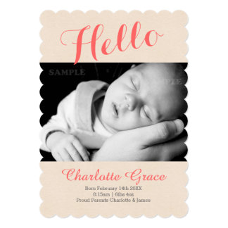 Hello New Baby Photo Template Card