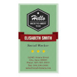 Hello Nice to Meet You - Vintage Retro Stylish Pack Of Standard Business Cards