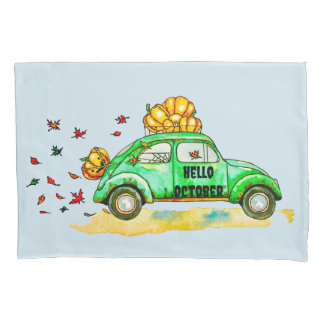 hello october pillowcase