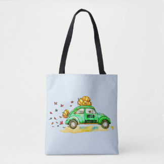 hello october tote bag