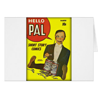 Hello Pal #2 Charlie McCarthy Cover Art Card
