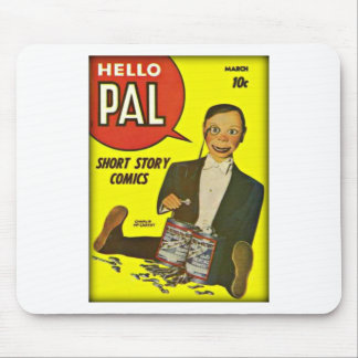 Hello Pal #2 Charlie McCarthy Cover Art Mouse Pad