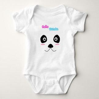 Hello Panda Cute Panda Face Baby Bodysuit