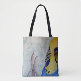Hello Parakeet Tote All Over Design