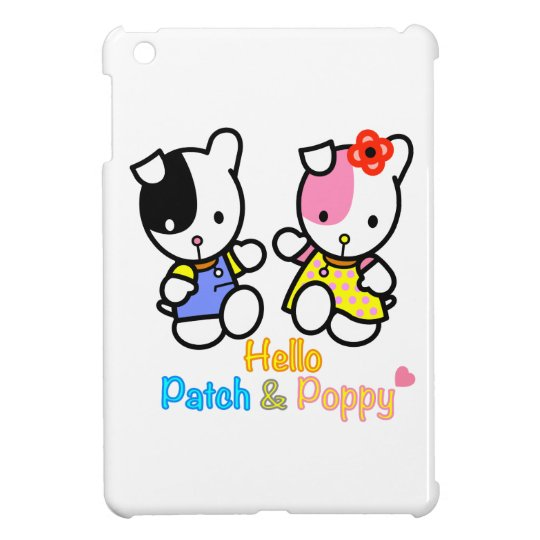 'Hello Patch and Poppy' ipad mini case