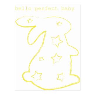 Hello Perfect Baby Postcard
