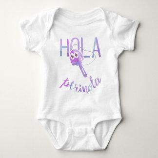 Hello Perinola Phrases of Venezuela Purpura Baby Bodysuit