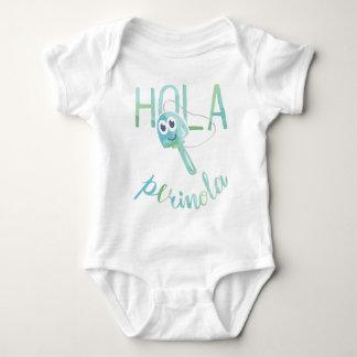Hello Perinola Watercolor Venezuelan Phrases Baby Bodysuit