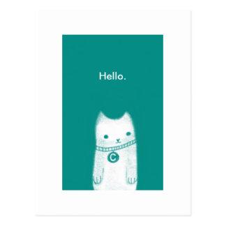 Hello. Postcard