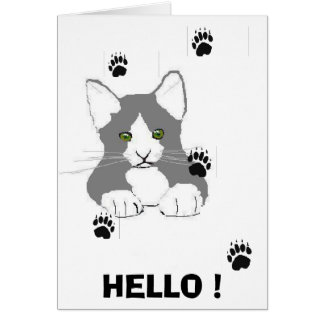 HELLO PUSSY CARD