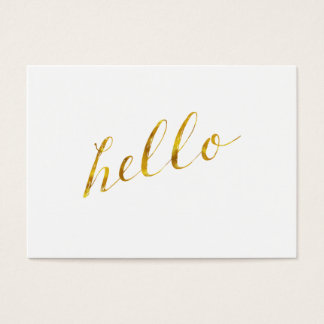 Hello Quote Faux Gold Foil Quotes Humor Sparkly Business Card