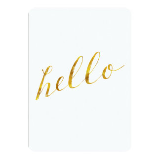Hello Quote Faux Gold Foil Quotes Humor Sparkly Card