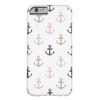 Hello Sailor! Retro Vintage Girly Nautical Anchors Barely There iPhone 6 Case